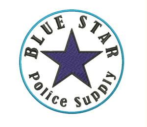 blue star police supply logo-sew